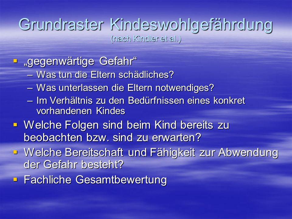 Grundraster Kindeswohlgefährdung (nach Kindler et al.)