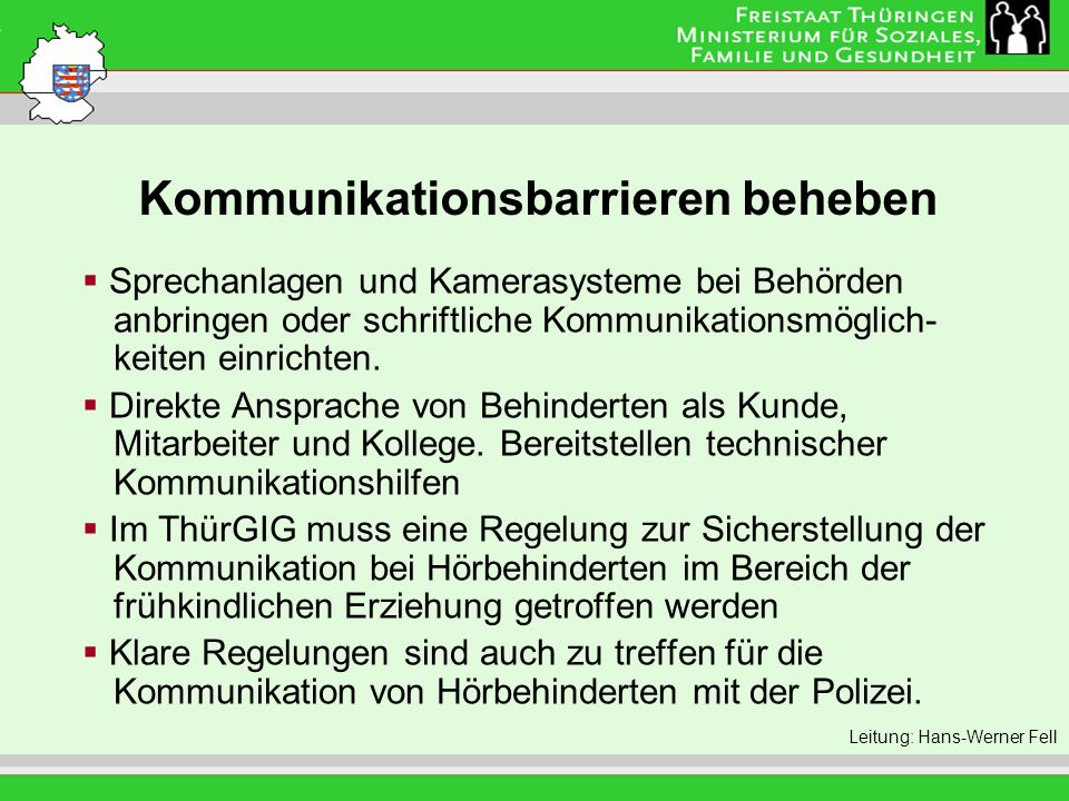 Kommunikationsbarrieren beheben