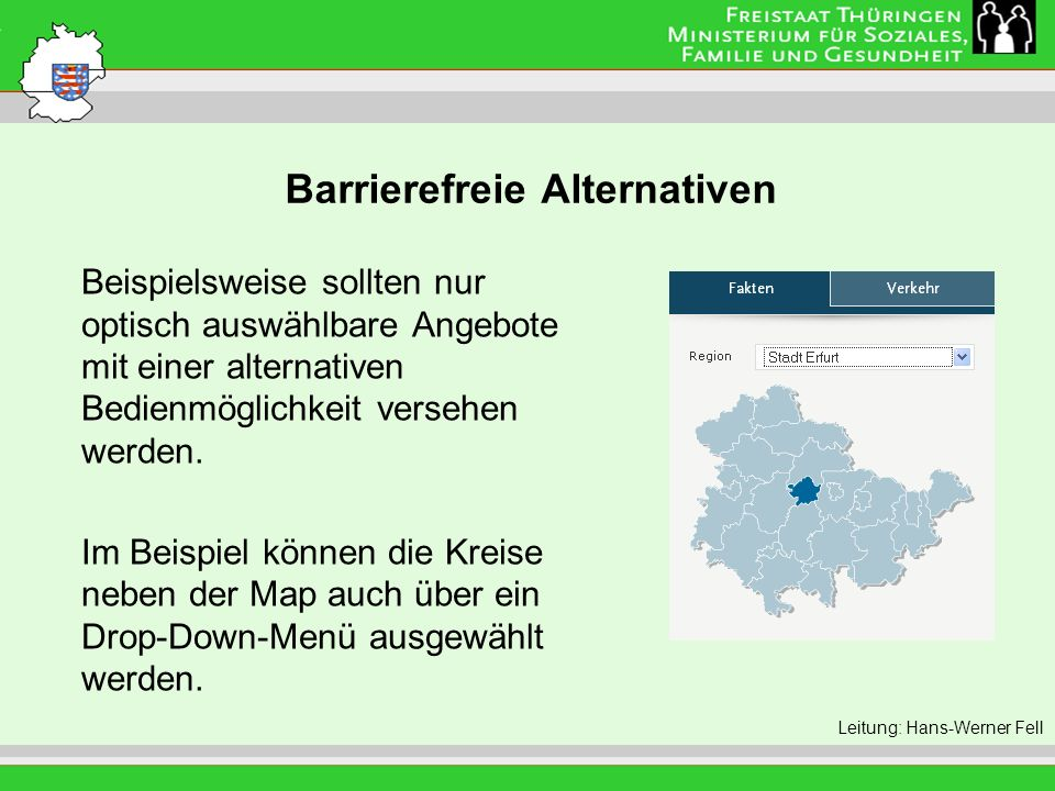 Barrierefreie Alternativen