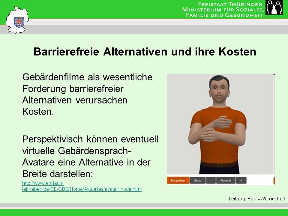 Barrierefreie Alternativen und ihre Kosten