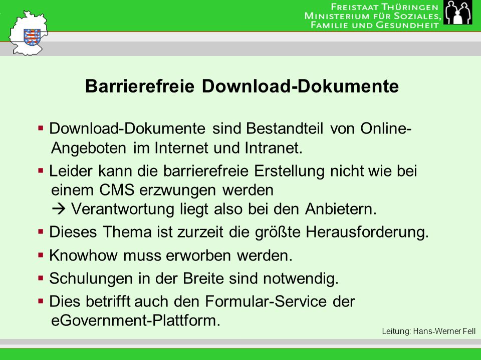 Barrierefreie Download-Dokumente