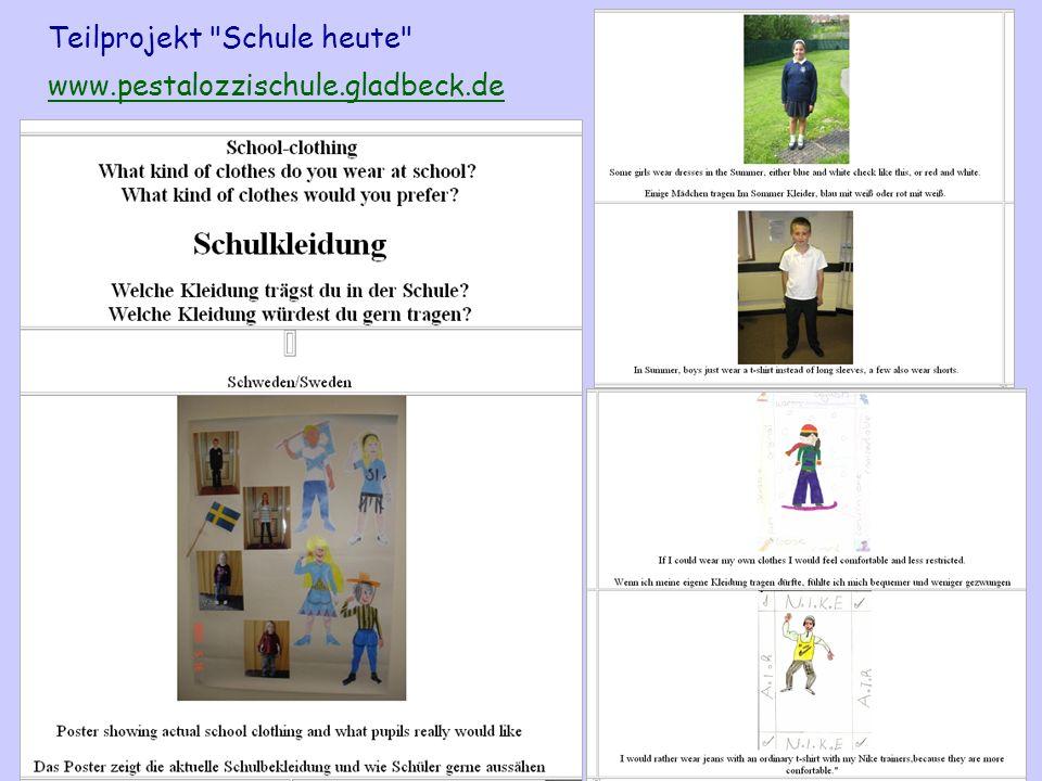 Teilprojekt Schule heute www.pestalozzischule.gladbeck.de
