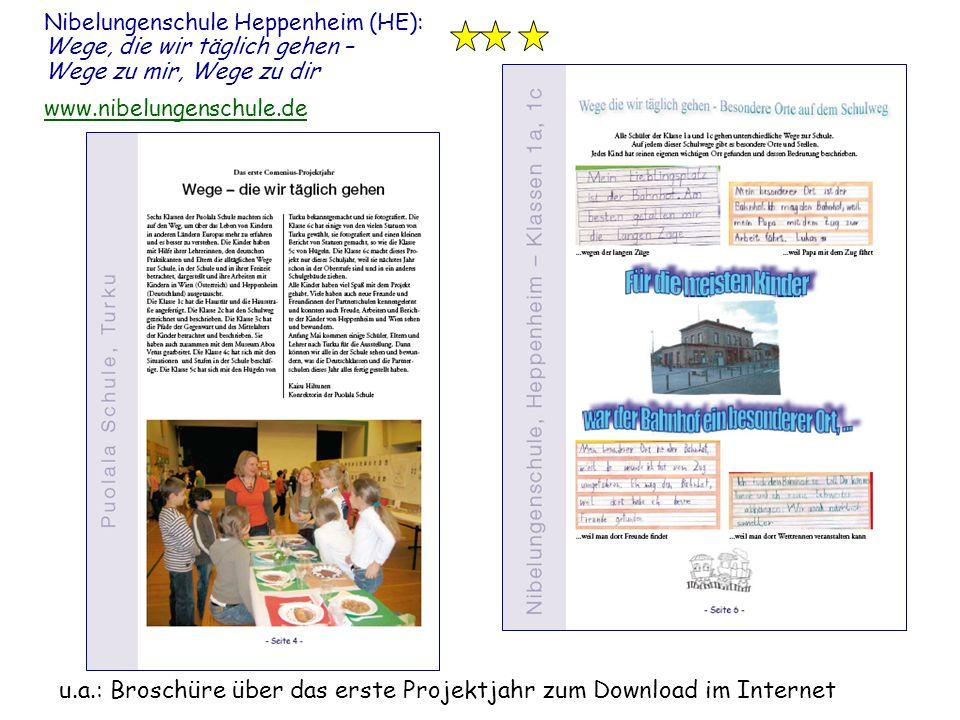 u.a.: Broschüre über das erste Projektjahr zum Download im Internet