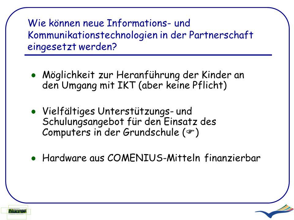 Wie können neue Informations- und Kommunikationstechnologien in der Partnerschaft eingesetzt werden