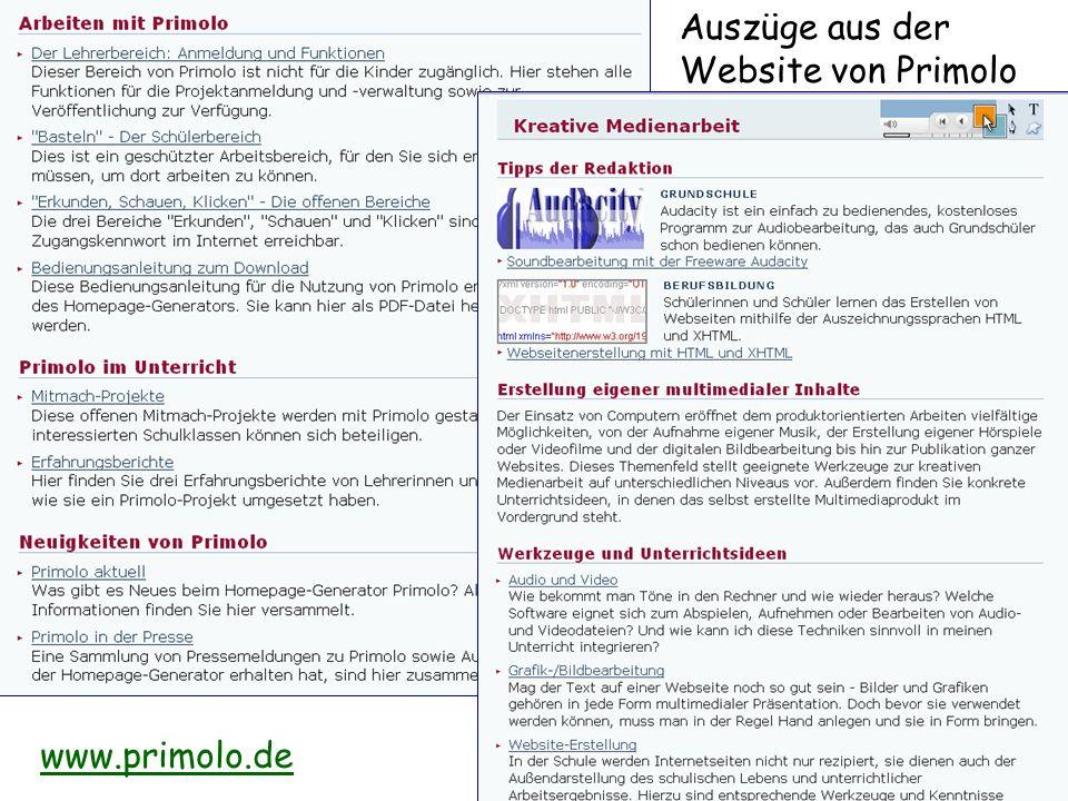 Auszüge aus der Website von Primolo