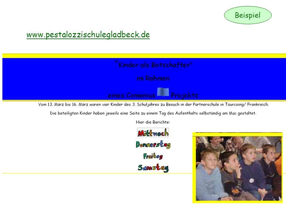 Beispiel www.pestalozzischulegladbeck.de