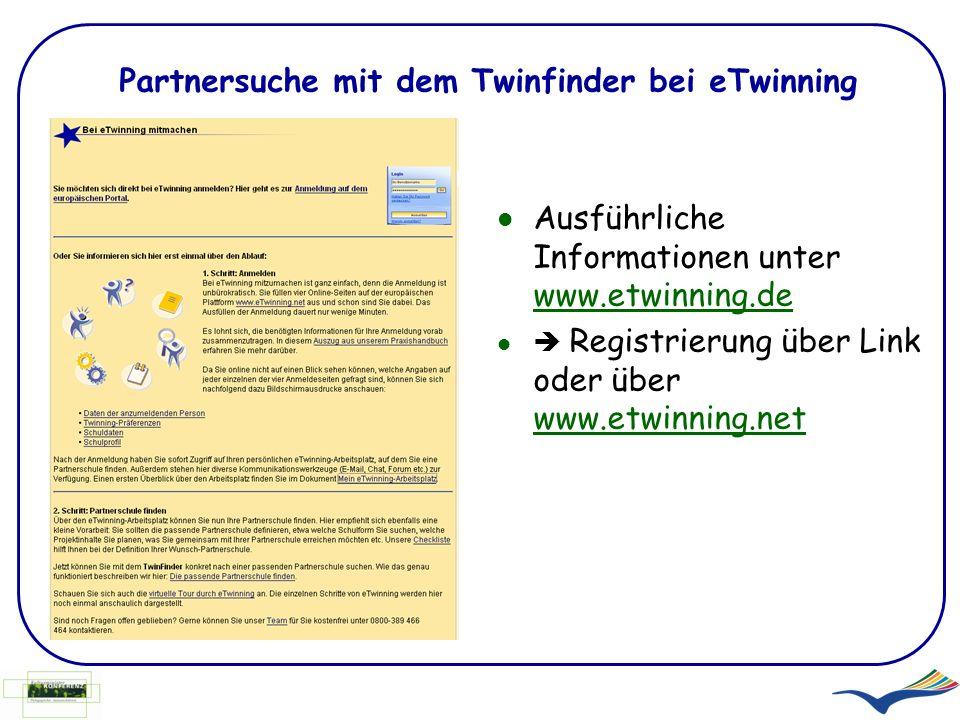 Partnersuche mit dem Twinfinder bei eTwinning