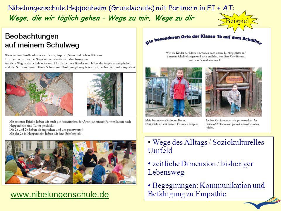 www.nibelungenschule.de Wege des Alltags / Soziokulturelles Umfeld