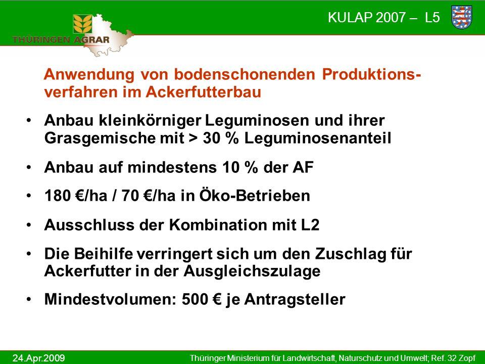 Anwendung von bodenschonenden Produktions-verfahren im Ackerfutterbau