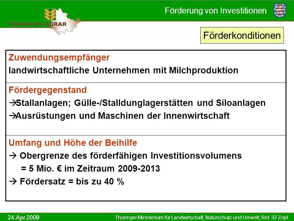 Förderung von Investitionen