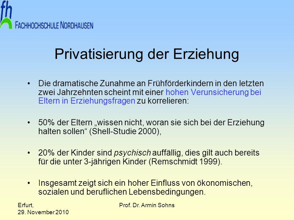 Privatisierung der Erziehung