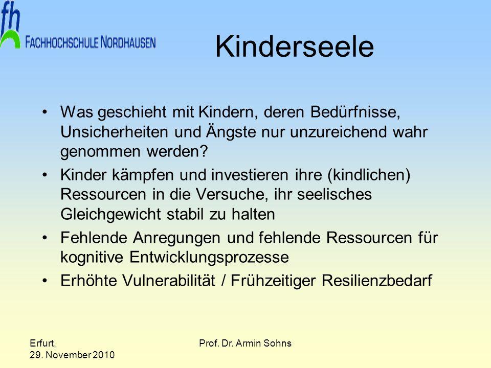 Kinderseele Was geschieht mit Kindern, deren Bedürfnisse, Unsicherheiten und Ängste nur unzureichend wahr genommen werden