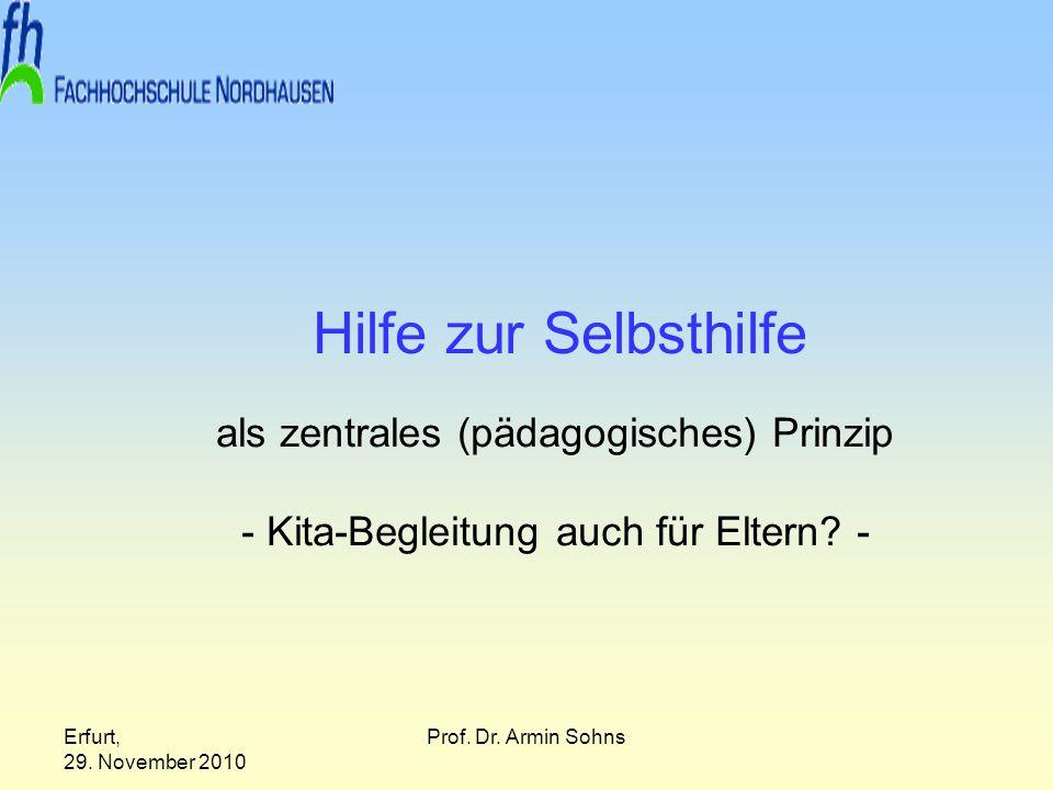 Hilfe zur Selbsthilfe als zentrales (pädagogisches) Prinzip