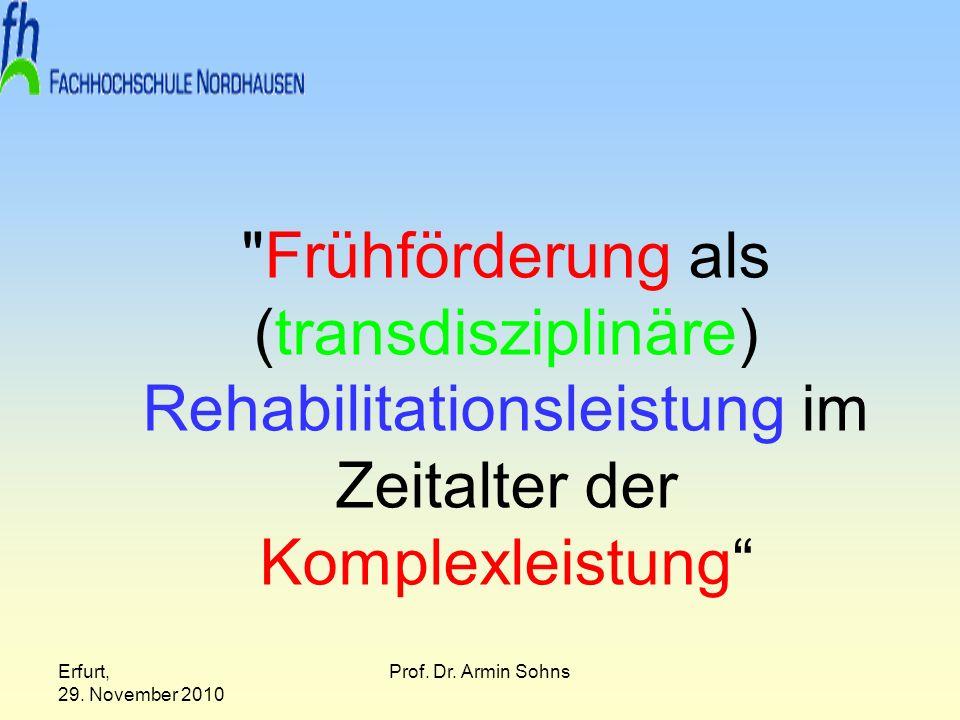 Frühförderung als (transdisziplinäre) Rehabilitationsleistung im Zeitalter der Komplexleistung