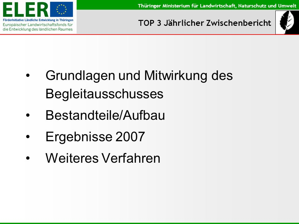 TOP 3 Jährlicher Zwischenbericht