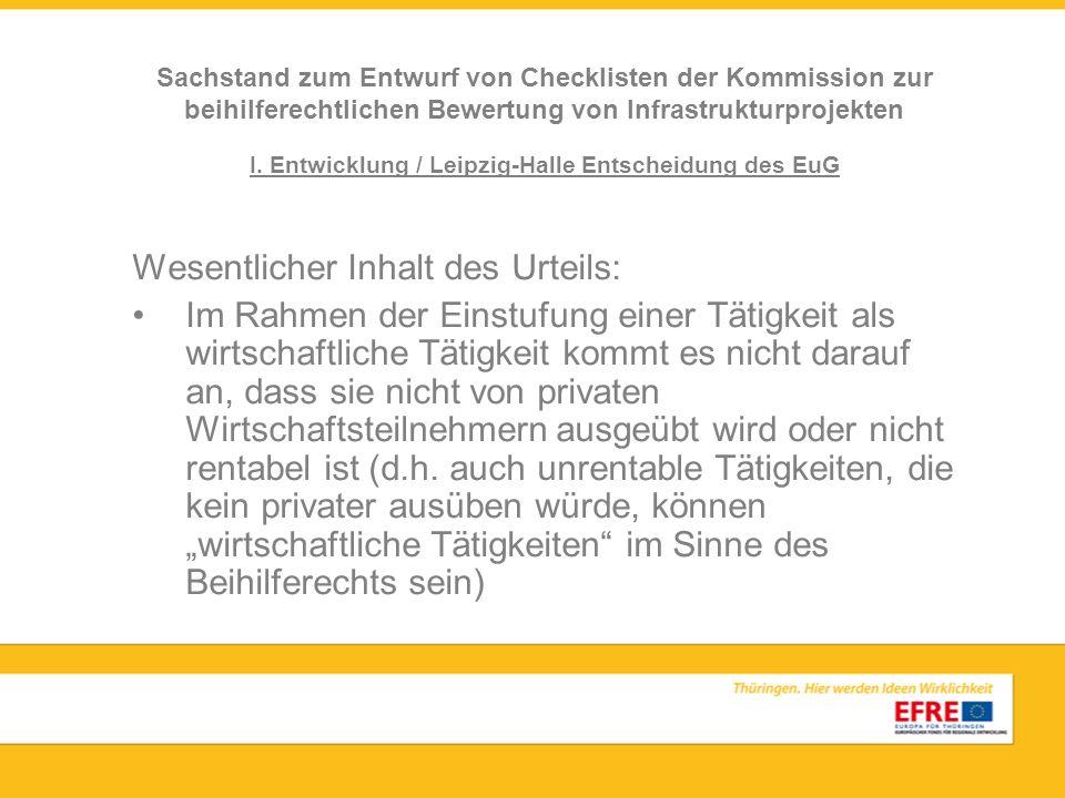 I. Entwicklung / Leipzig-Halle Entscheidung des EuG