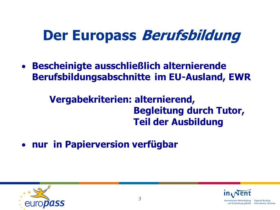 Der Europass Berufsbildung
