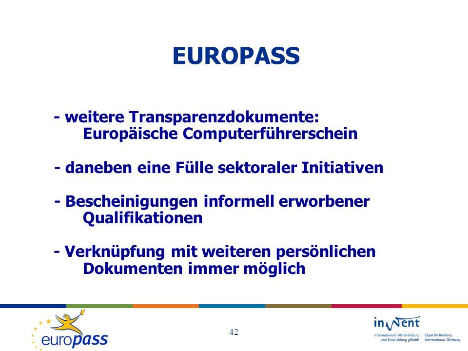 EUROPASS Europäische Computerführerschein