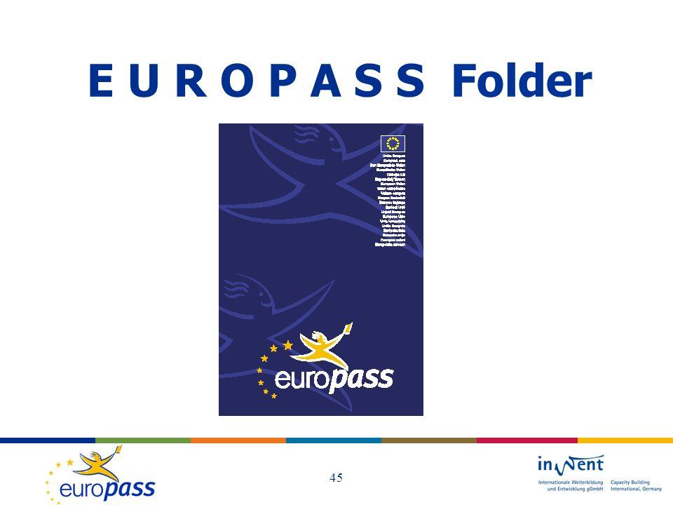 E U R O P A S S Folder 45