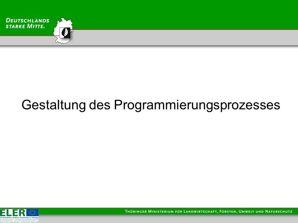 Gestaltung des Programmierungsprozesses