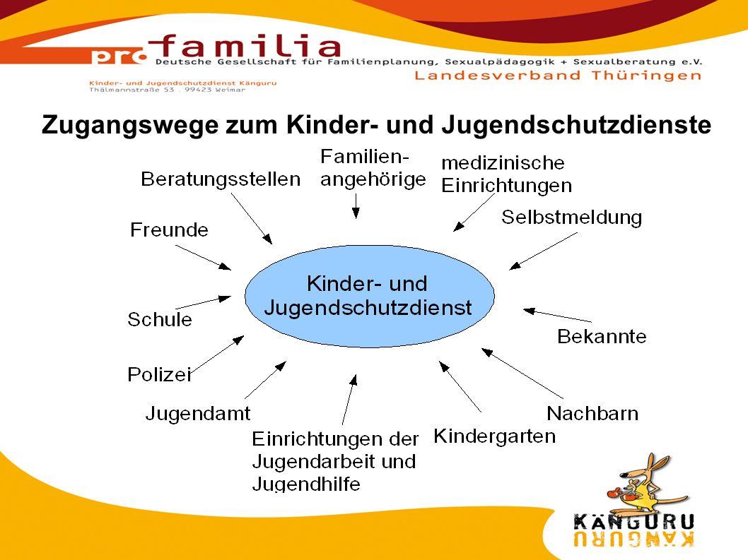 Zugangswege zum Kinder- und Jugendschutzdienste