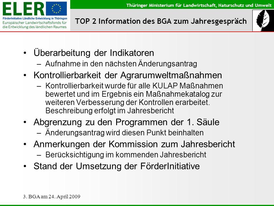 TOP 2 Information des BGA zum Jahresgespräch