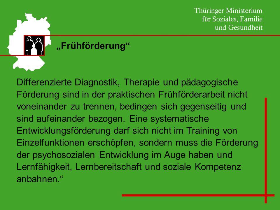 """""""Frühförderung Differenzierte Diagnostik, Therapie und pädagogische. Förderung sind in der praktischen Frühförderarbeit nicht."""