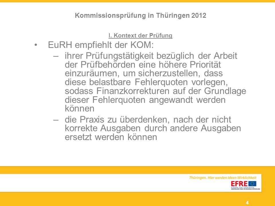 Kommissionsprüfung in Thüringen 2012