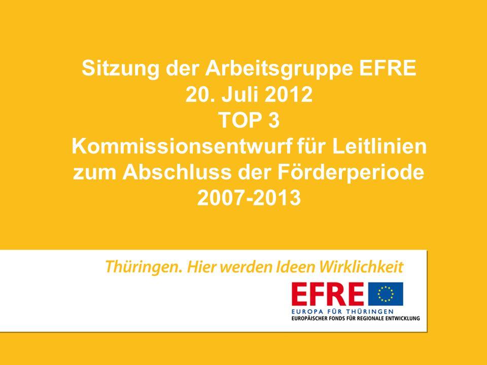 Sitzung der Arbeitsgruppe EFRE 20