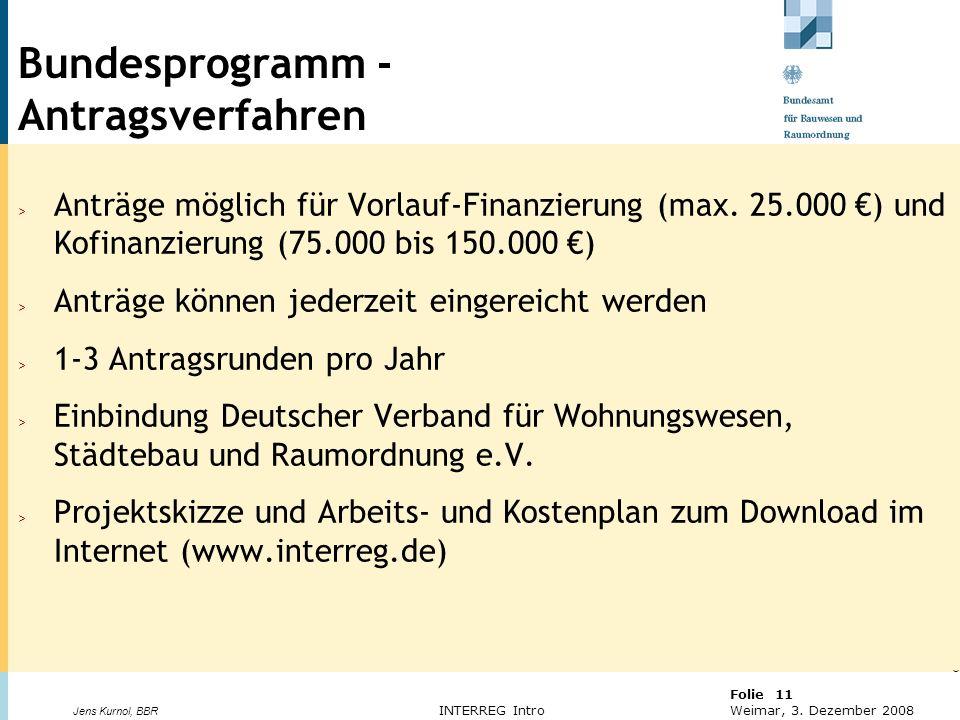 Bundesprogramm - Antragsverfahren
