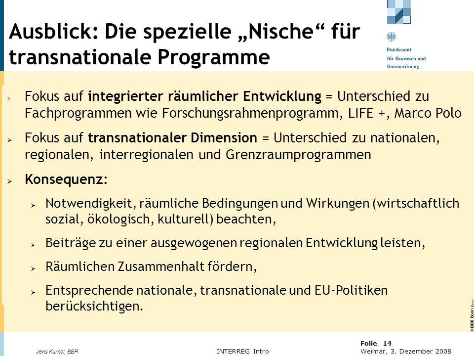 """Ausblick: Die spezielle """"Nische für transnationale Programme"""