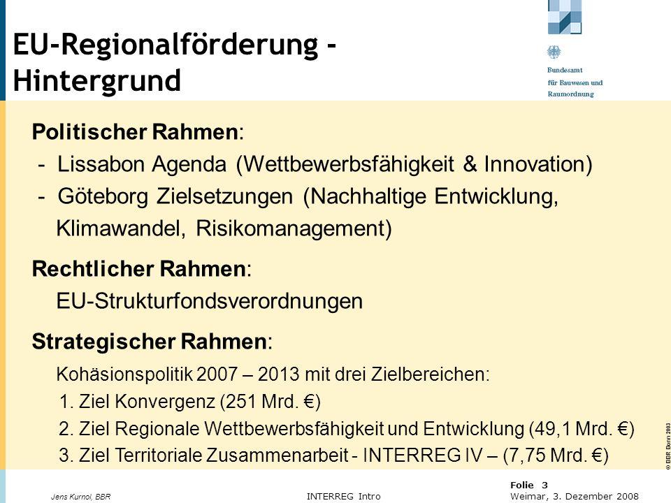 EU-Regionalförderung - Hintergrund