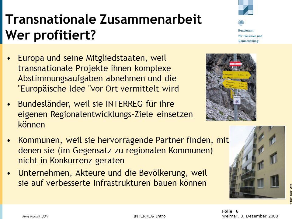 Transnationale Zusammenarbeit Wer profitiert