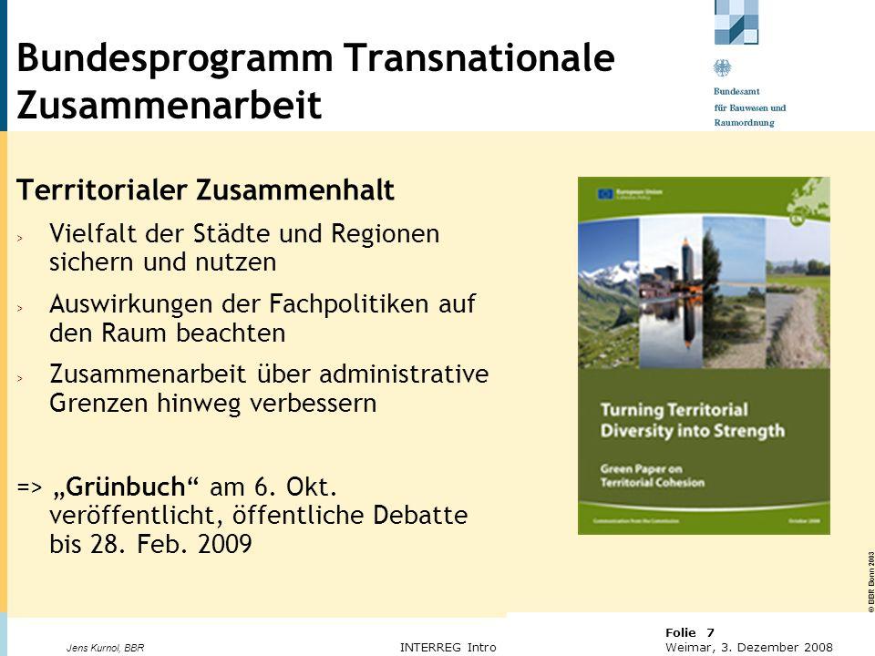Bundesprogramm Transnationale Zusammenarbeit