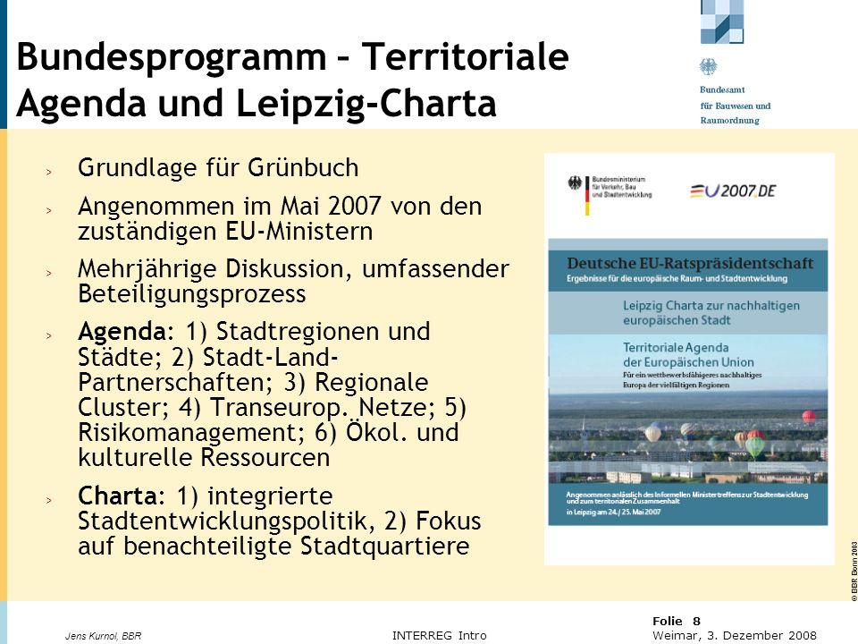 Bundesprogramm – Territoriale Agenda und Leipzig-Charta