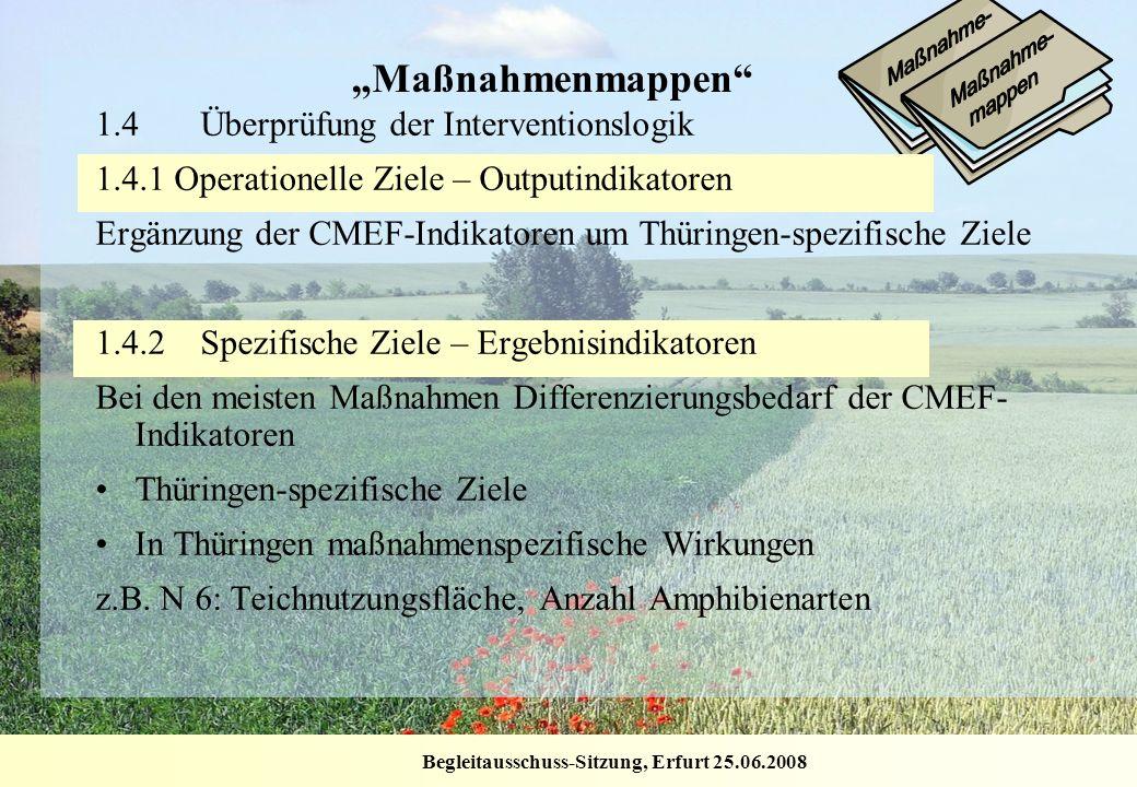 """""""Maßnahmenmappen 1.4 Überprüfung der Interventionslogik"""