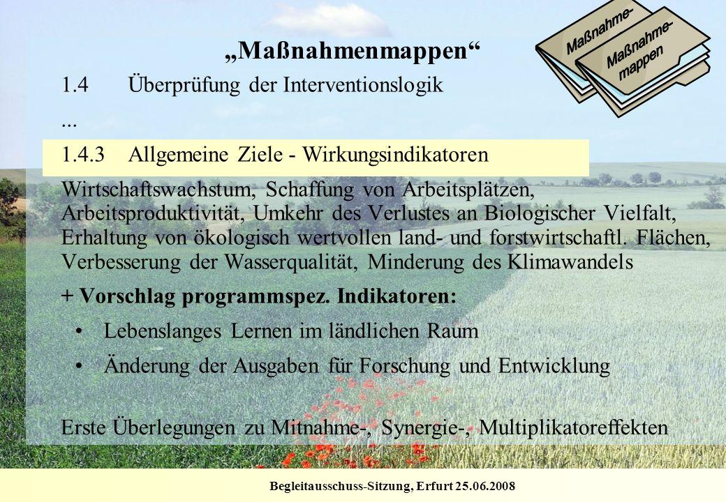"""""""Maßnahmenmappen 1.4 Überprüfung der Interventionslogik ..."""