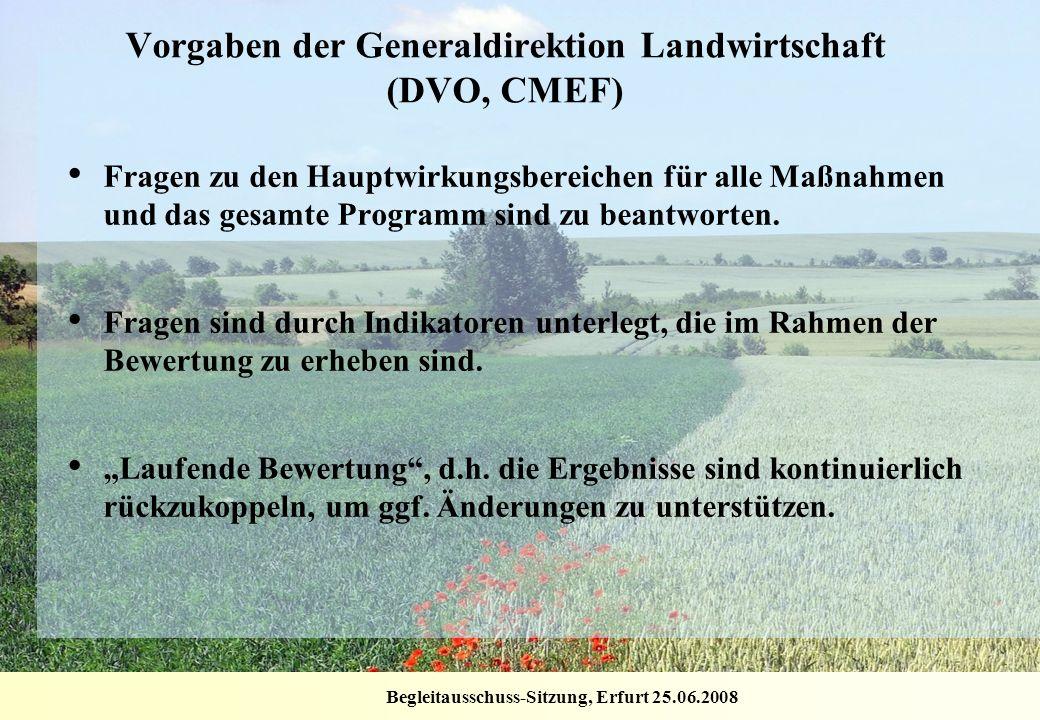 Vorgaben der Generaldirektion Landwirtschaft (DVO, CMEF)