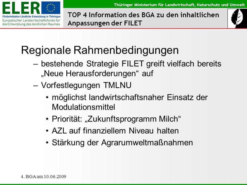 TOP 4 Information des BGA zu den inhaltlichen Anpassungen der FILET