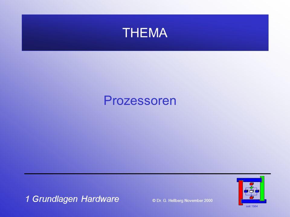 THEMA Prozessoren. 1 Grundlagen Hardware © Dr.