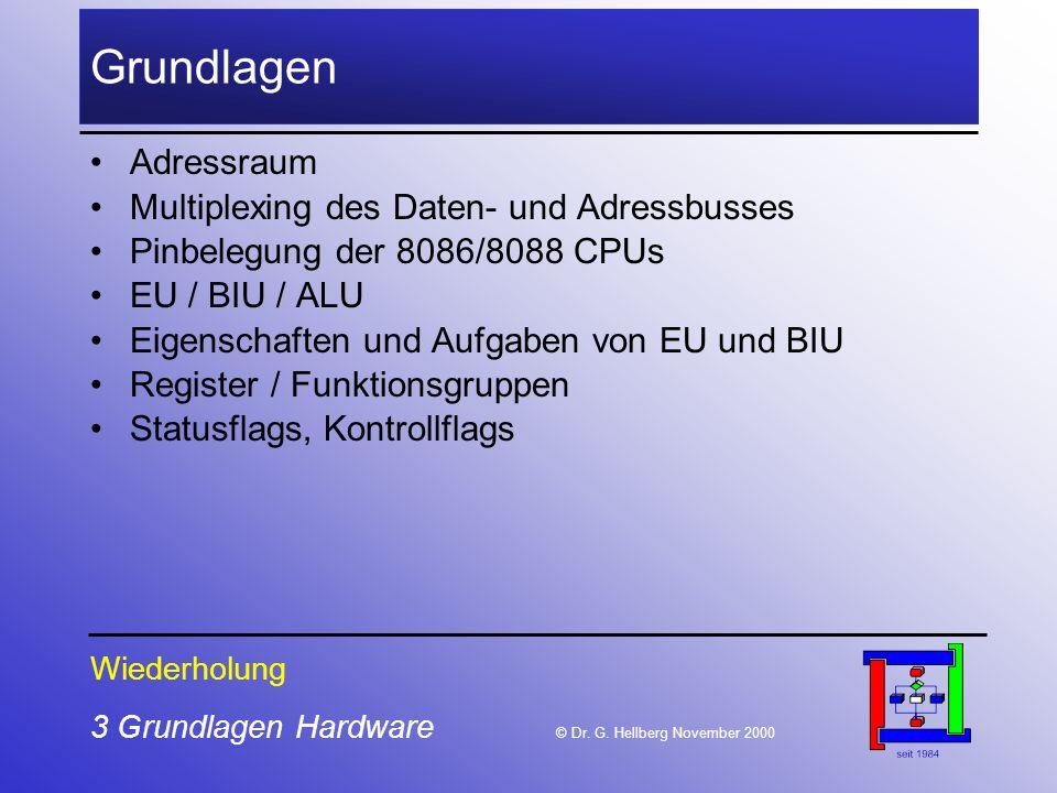 Grundlagen Adressraum Multiplexing des Daten- und Adressbusses