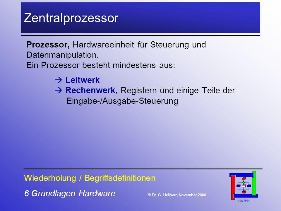 Zentralprozessor Prozessor, Hardwareeinheit für Steuerung und