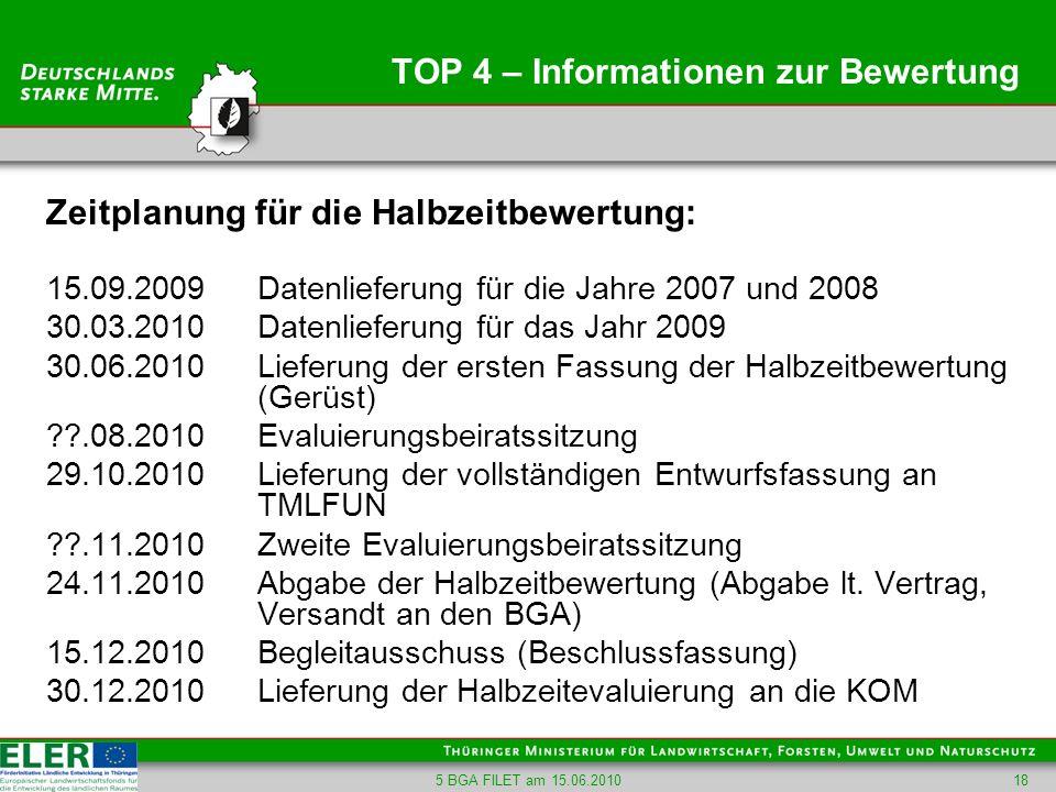 TOP 4 – Informationen zur Bewertung