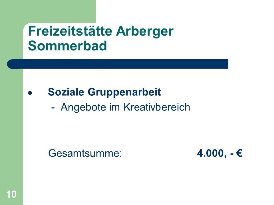 Freizeitstätte Arberger Sommerbad