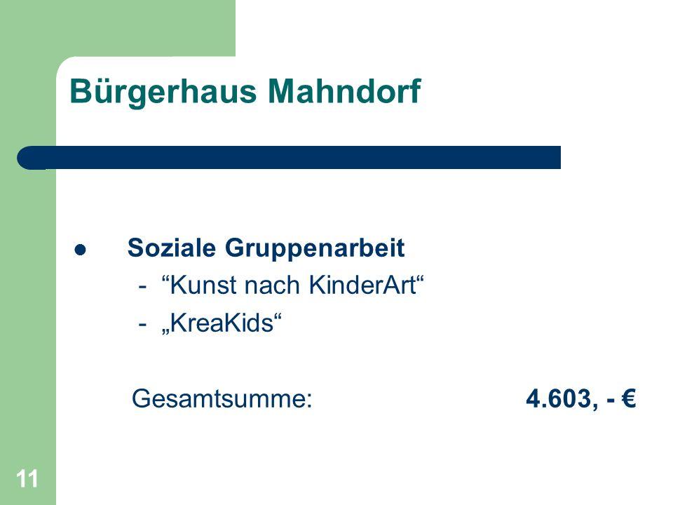 Bürgerhaus Mahndorf Soziale Gruppenarbeit - Kunst nach KinderArt