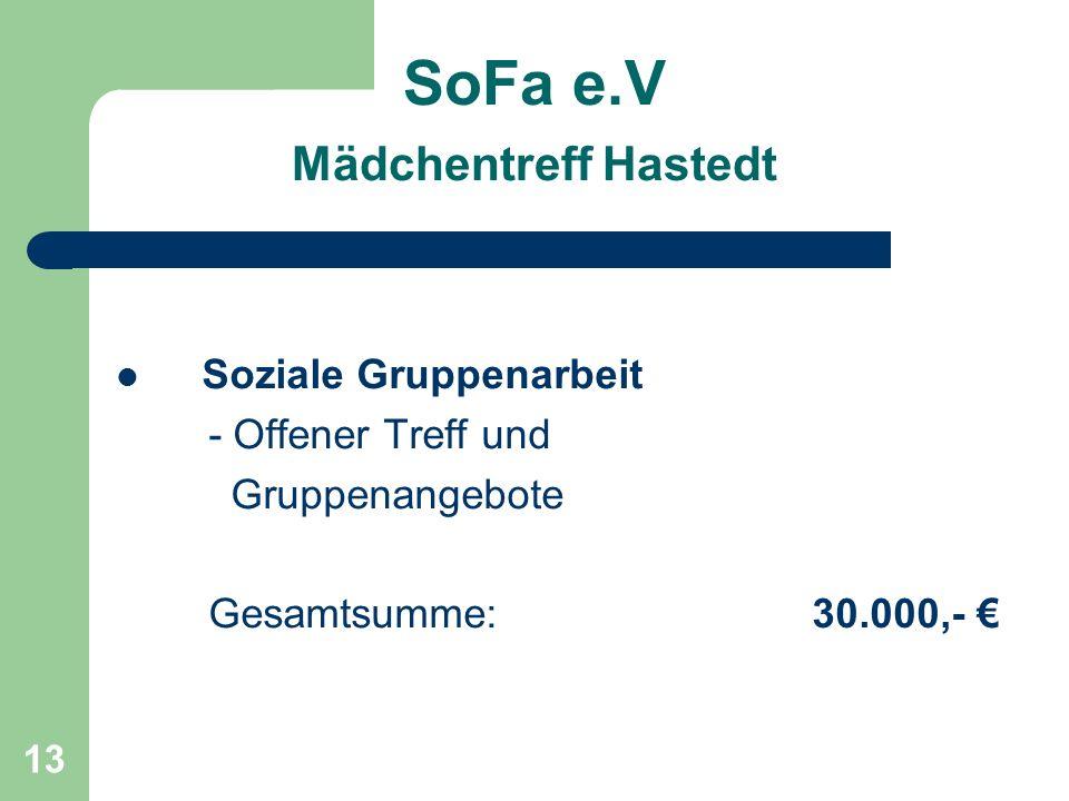 SoFa e.V Mädchentreff Hastedt