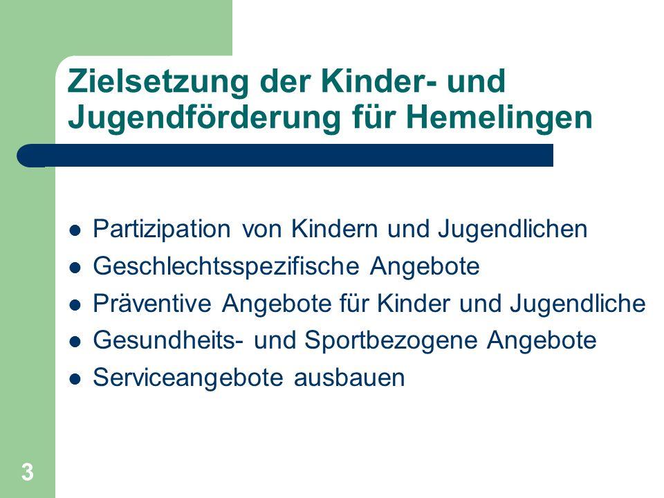 Zielsetzung der Kinder- und Jugendförderung für Hemelingen