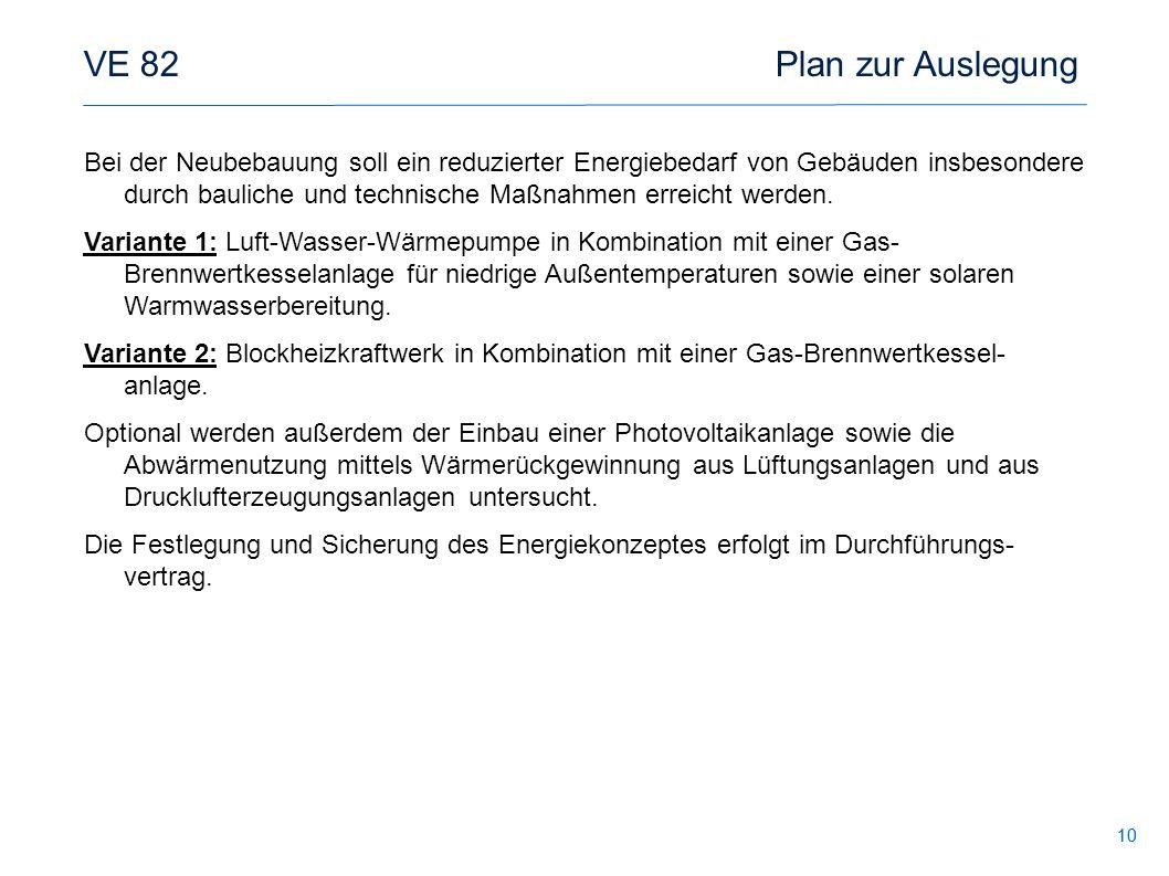 VE 82 Plan zur Auslegung