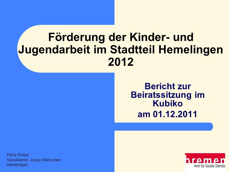 Förderung der Kinder- und Jugendarbeit im Stadtteil Hemelingen 2012