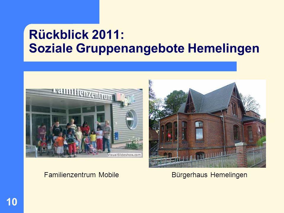 Rückblick 2011: Soziale Gruppenangebote Hemelingen